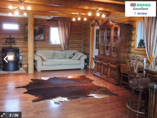 Luxury Log Cottage & Sauna on Private Lake